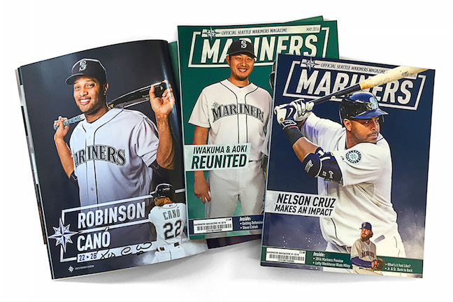 Imagine of Mariners Magazine covers with 'rhombus' text styling