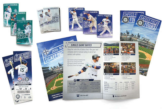 Image of Seattle Mariners schedules and tickets with 'rhombus' design