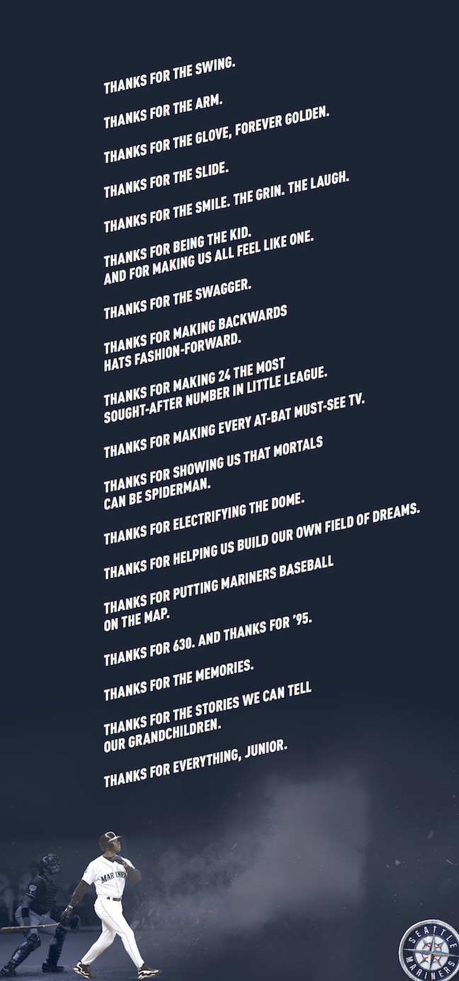 Thanks for Everything, Junior (print ad)
