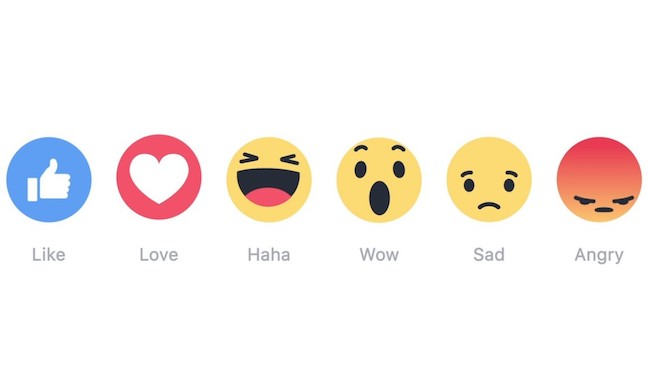 Image of Facebook Reactions icons