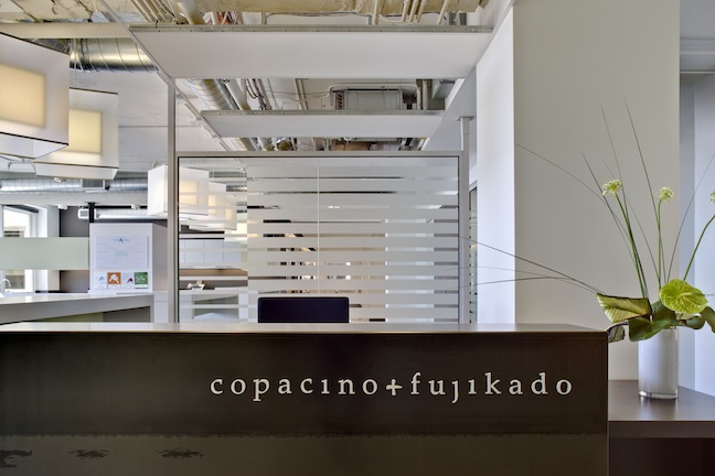 It's a picture of the front desk at Copacino+Fujikado